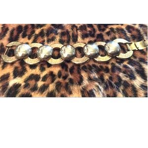Chain Bracelet Chunky Circle Safari Stack Vintage